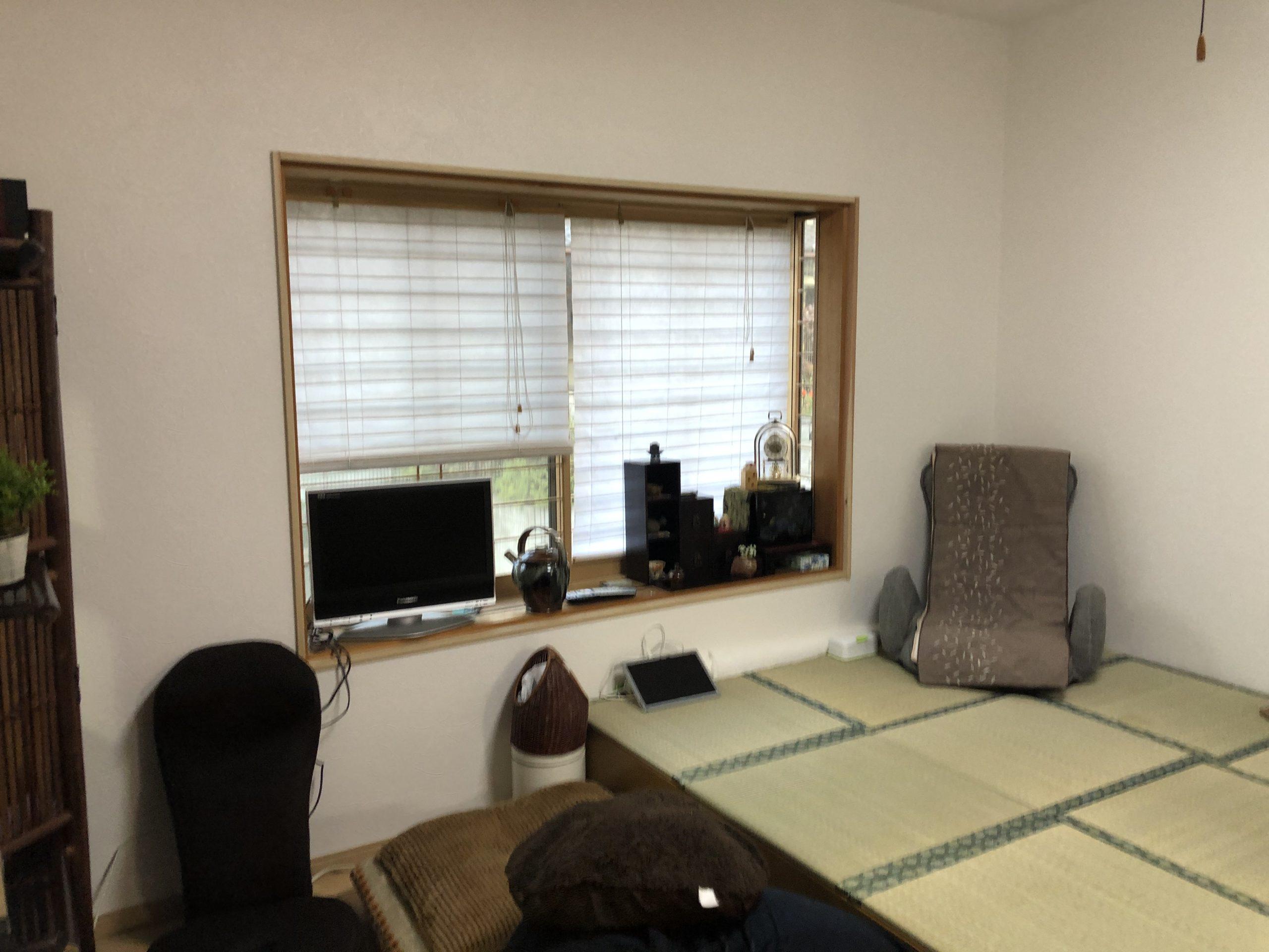 2部屋を1部屋の広いリビングに🤗 工事完了👍